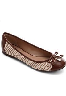 Sapatilha Shoestock Tramado Shell Icon - Feminino-Caramelo