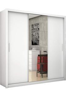 Closet Com Espelho 6 Gavetas E Portas De Correr Clarisse Plus Siena Móveis Branco