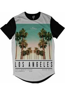 Camiseta Longline Long Beach La Beach Sublimada Branco