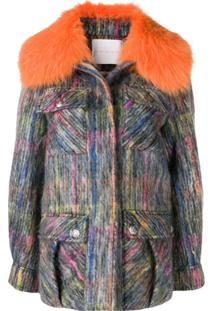 Giada Benincasa Textured Overshirt Jacket - Laranja