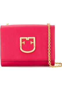 Furla Bolsa Transversal Com Logo Ff - Vermelho