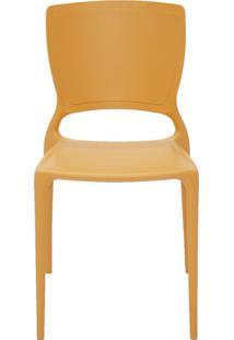 Cadeira Sofia Sem Braço Encosto Fechado Laranja Tramontina