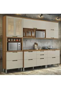 Cozinha Compacta Duquesa 8 Pt 6 Gv Off White E Freijó