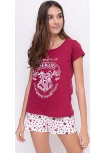 Pijama Com Estampa Harry Potter
