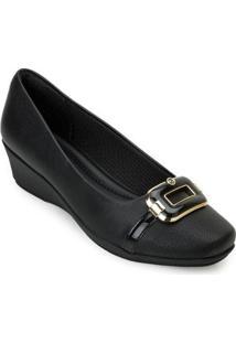 Sapato Anabela Piccadilly Pd20-144069 - Feminino
