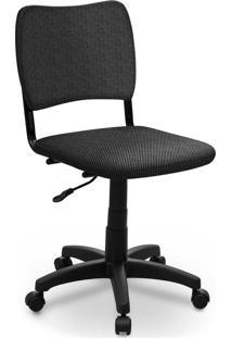 Cadeira Giratã³Ria Estofados Atena S/ Braã§O Cinza - Cinza - Dafiti