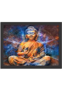 Quadro Decorativo Vibes Buda Preto - Grande