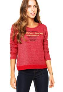Blusa Vínculo Basic Retro Vermelho