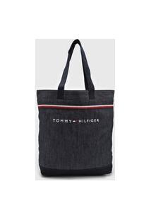 Bolsa Tommy Hilfiger Logo Azul-Marinho