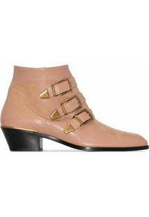 Chloé Ankle Boot Susanna E Salto 30Mm - Neutro
