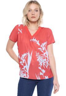 Blusa Ana Hickmann Floral Vermelha