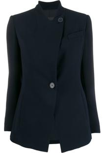 Emporio Armani Slim-Fit Collarless Blazer - Azul