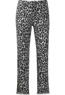 Michael Michael Kors Calça Cropped Com Animal Print - Cinza