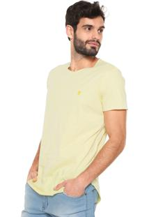 Camiseta Polo Wear Vintage Corte Laser Amarela