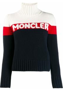 Moncler Suéter Com Logo - Azul