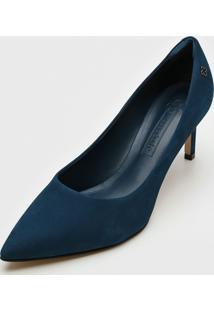 Scarpin Capodarte Camurça Azul