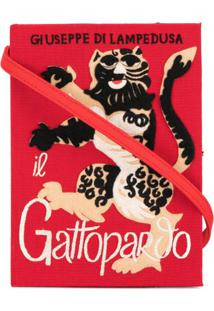 Olympia Le-Tan Clutch Livro 'Gatopardo' - Vermelho