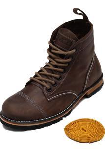 Bota Couro Mcd Beckman Boots Marrom