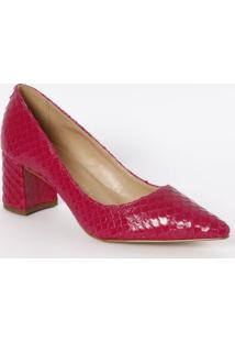 Scarpin Em Couro - Pink - Salto: 6,5Cmcmluiza Barcelos