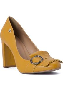 Scarpin Curry Cs Club Amarelo - Amarelo - Feminino - Dafiti