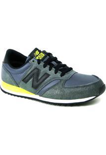 Tênis Casual New Balance 420 - Chumbo/Verde Wl420Npc - Feminino