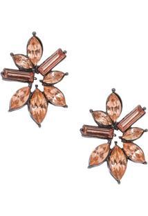 Brinco Flor Crystal