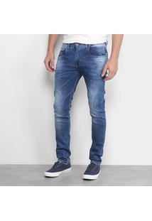 Calça Jeans Skinny Handbook Estonada Laercio Masculina - Masculino