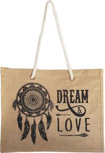 Bolsa Bag Dreams De Praia Barcelona Dreams Love Preta - Kanui