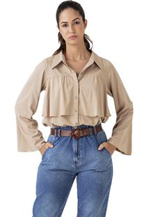Camisa Karamello Recorte Chino