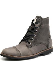 Bota Coturno Casual Shoes Grand Confortável Cinza