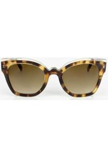 Óculos Solar Imaginária Descolada Tartaruga - Feminino-Marrom