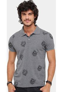 Camisa Polo Local Piquet Skull Tattoo Masculina - Masculino