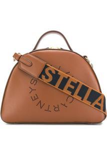 Stella Mccartney Bosa Tiracolo Stella Com Logo - Marrom
