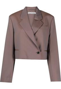 Acne Studios Blazer Cropped - Ai8-Brown/Blue