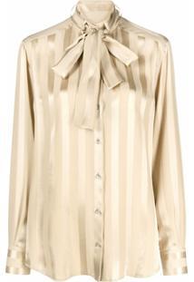 Dolce & Gabbana Blusa Com Listras - Neutro