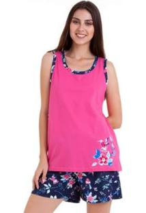 Pijama Bermudoll Regata Luna Cuore Feminino - Feminino-Rosa