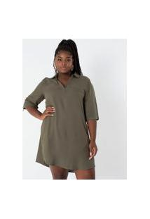 Vestido Liso Com Bolsos Curve & Plus Size | Ashua Curve E Plus Size | Verde | Gg