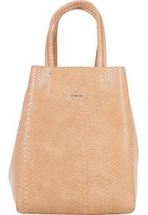 Bolsa Shopping Bag Dupla Face Ellus Feminina - Feminino-Nude