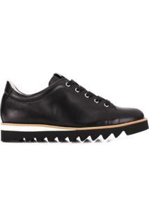 Hogl Sapato Anabela Com Cadarço - Preto