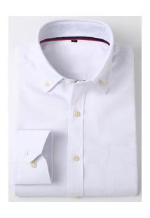 Camisa Social Masculina Nashville - Branca