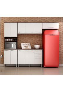 Cozinha Compacta Alpes 11 Pt 2 Gv Castanho E Branca