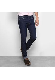 Calça Jeans Skinny Colcci Lavagem Tradicional Masculina - Masculino-Azul Escuro