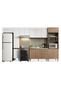 Cozinha 6 Peças Madeira/Branco Be Mobiliário