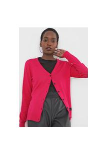 Cardigan Tricot 2Nd Floor Liso Rosa