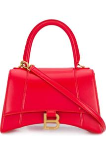 Balenciaga Bolsa Tote Pequena Hourglass - Vermelho