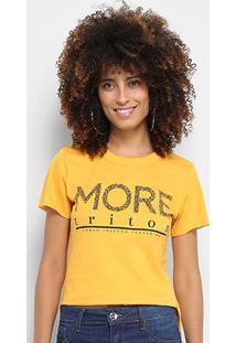Camiseta Triton Estampa Logo Feminina - Feminino-Amarelo