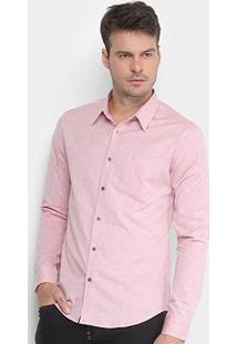 Camisa Manga Longa Calvin Klein Chambray Geneva Masculina - Masculino