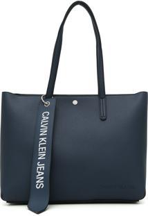 Bolsa Calvin Klein Logo Azul-Marinho