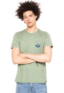 Camiseta Quiksilver New Wave Verde
