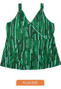 Blusa Verde Escuro Com Detalhe Metálico